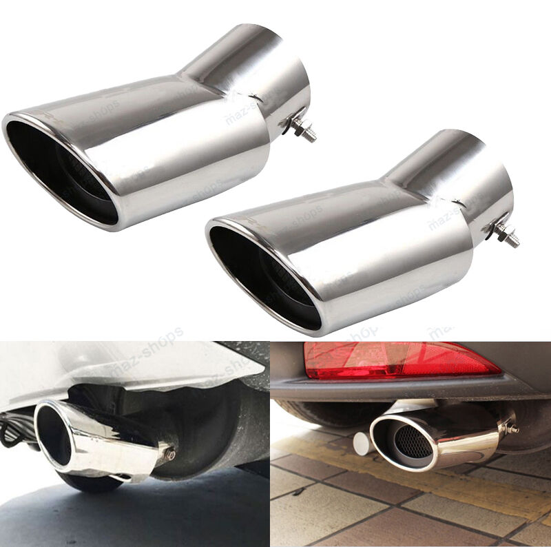 pcs chrome exhaust muffler tail pipe tip tail pipe