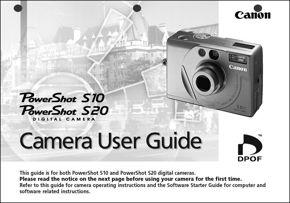 Canon Powershot S20 Digital Camera User Guide Instruction Manual Ebay