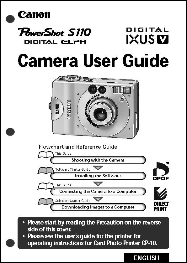 Canon Powershot S110 Digital Camera User Guide Instruction Manual Ebay