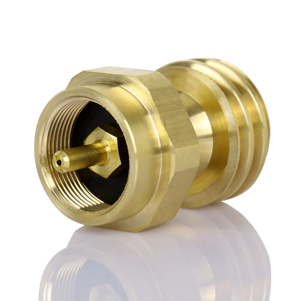 Solid lb brass propane tank gas adapter connector