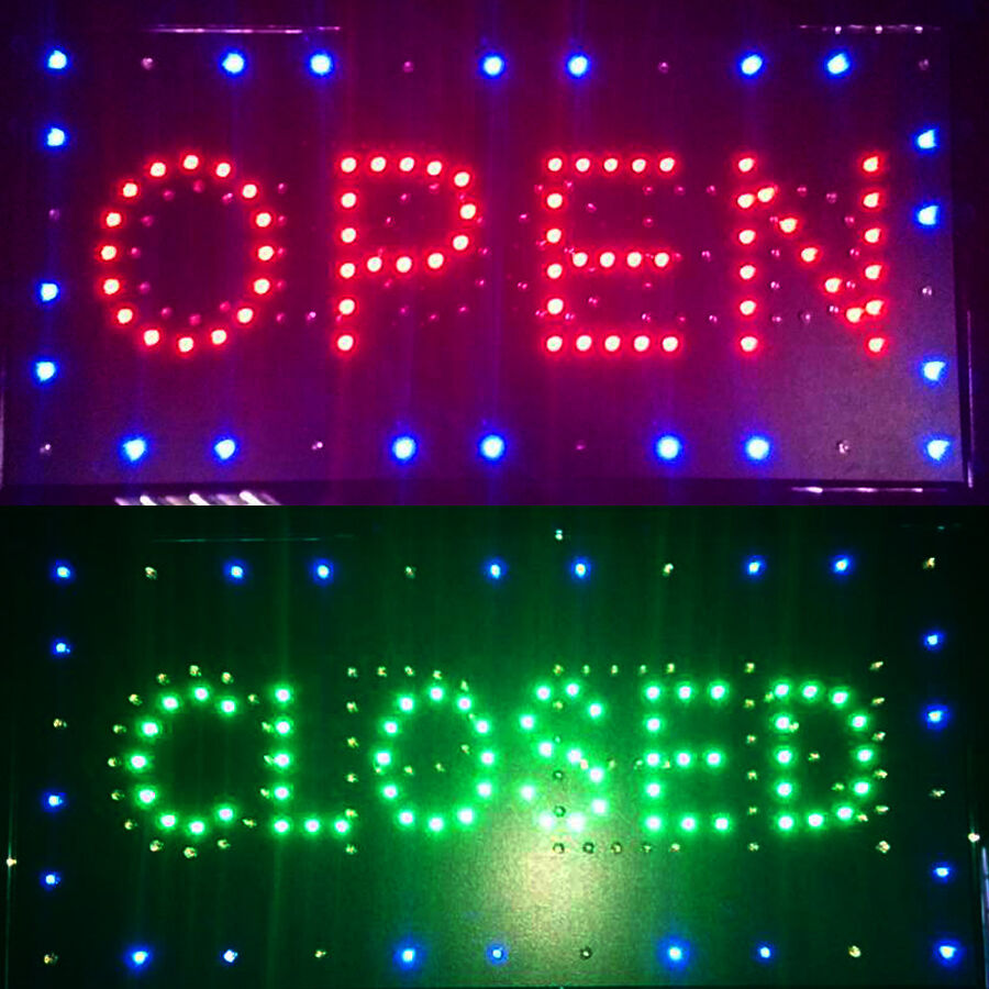 Shop Open Sign Lights: Bright LED Open & Closed For Store Shop Business Sign Neon