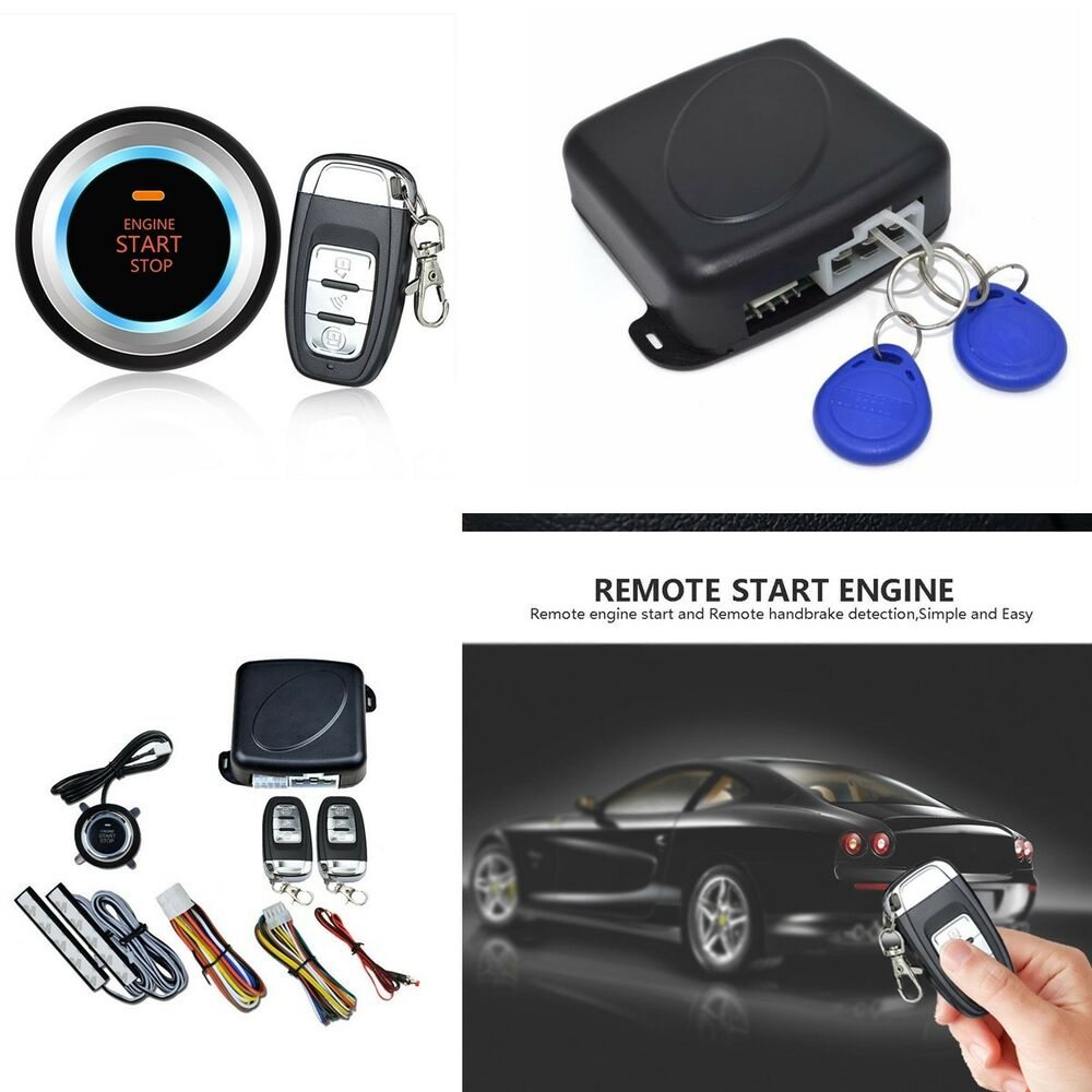 New auto alarm car keyless entry engine start push button for Remote starter for mercedes benz