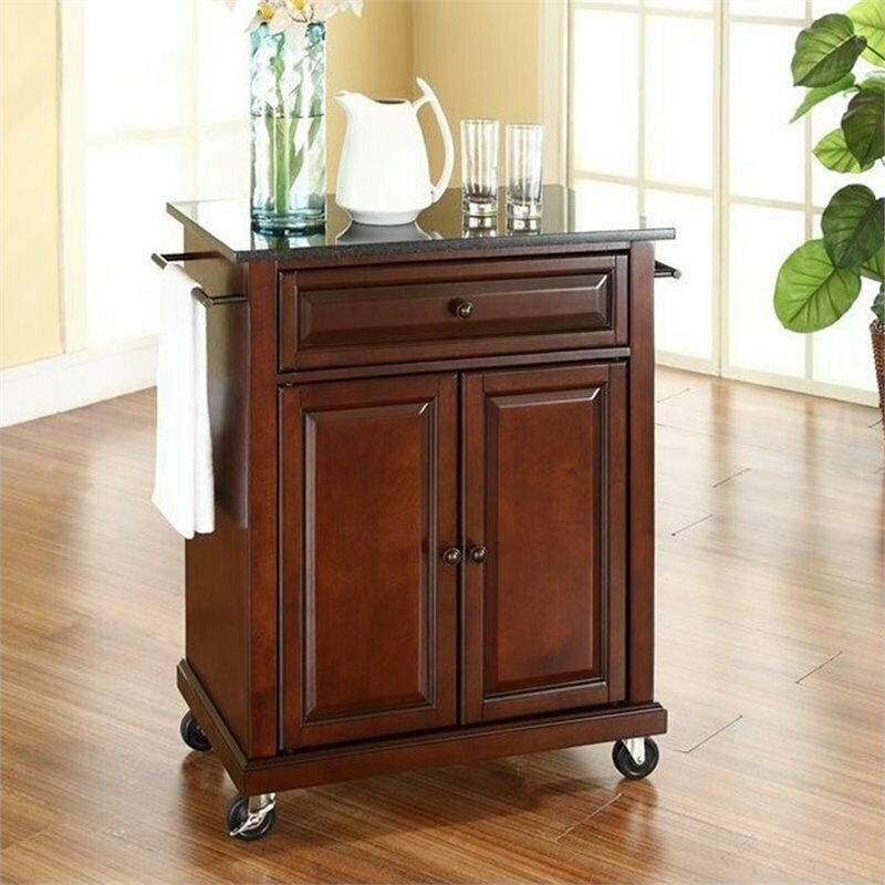 Crosley Furniture Roots Rack Natural Industrial Kitchen: Crosley Furniture Solid Black Granite Top Mahogany Kitchen