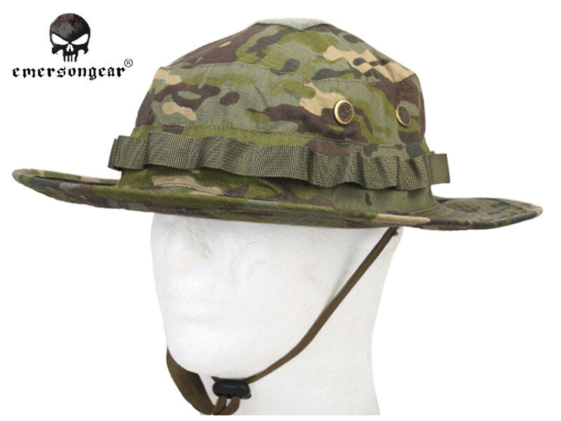 a1e1fb3265c Details about Hiking Hunting Combat Hat Emerson Tactical Boonie Hat  Multicam Tropic