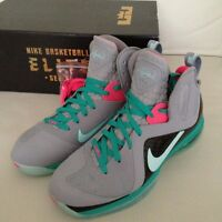 Nike Lebron 9 PS Elite Sz 11 SOUTH BEACH 100% Authentic Wolf Grey Mint Cavs Rare