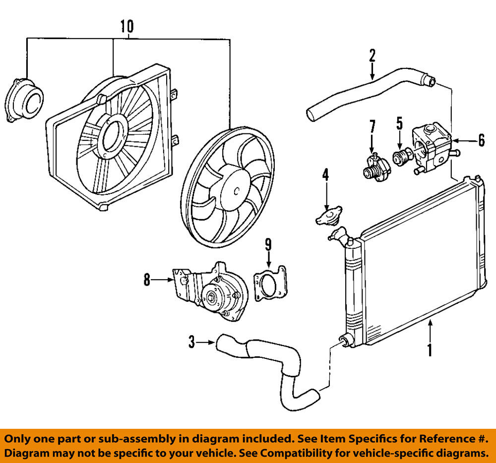 details about ford oem 00-04 focus-engine coolant thermostat housing  2m5z8592aa