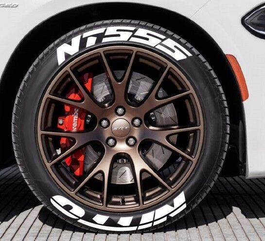 nitto tires with white lettering nitto nt555 white rubber tire letters 1 5 quot for 14 quot 15 23783 | s l1000