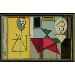 Kyпить Custom Picasso Abstract Needlepoint Framed Canvas на еВаy.соm