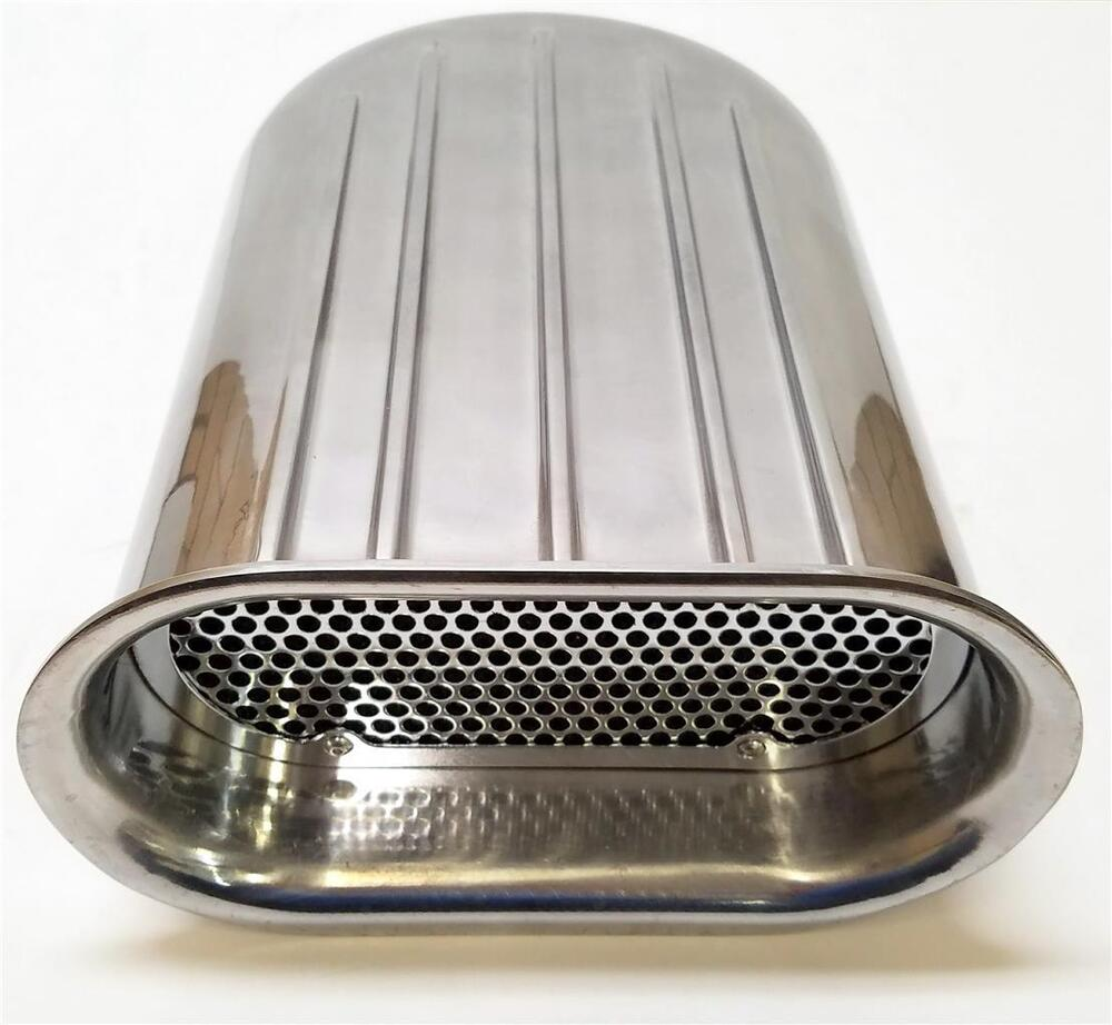 Four Bbl Carb Air Cleaners : Barrel polished aluminum finned hilborn style carb air
