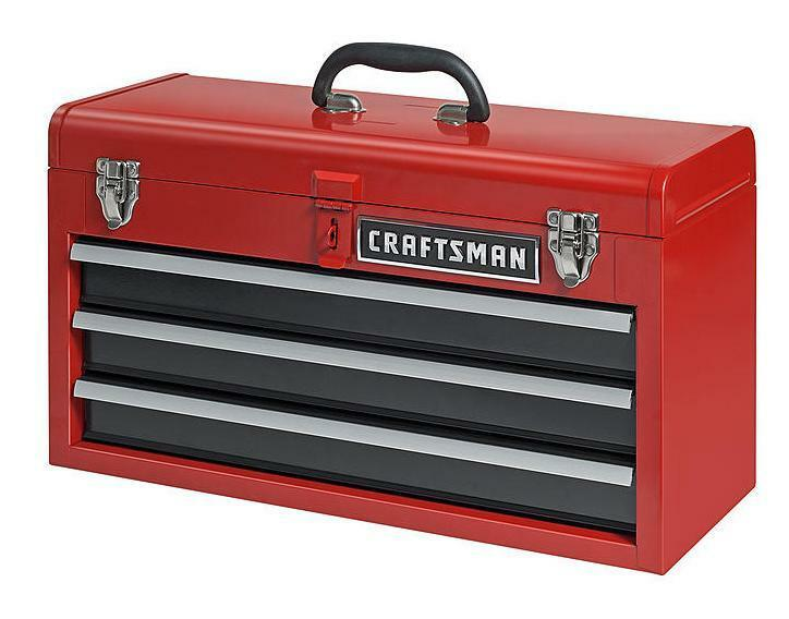 new craftsman 3 drawer portable mechanic tool box chest cabinet garage organizer 674775422895 ebay. Black Bedroom Furniture Sets. Home Design Ideas