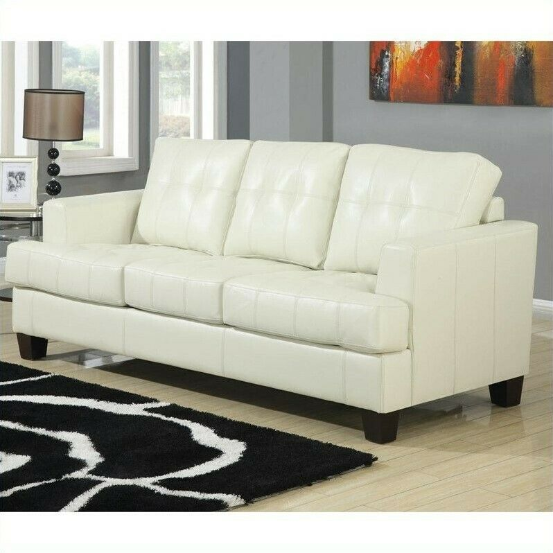cream leather sofa coaster samuel leather sleeper sofa in cream 21032249984 13612 | s l1000