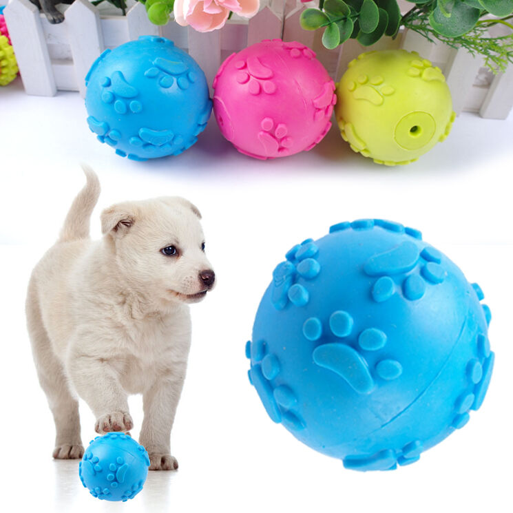 Interactive Rubber Dog Ball Toys Pet Chew Play Toys For Puppies