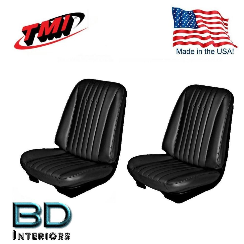 1968 Chevy Chevelle Front Bucket Seat Upholstery Black