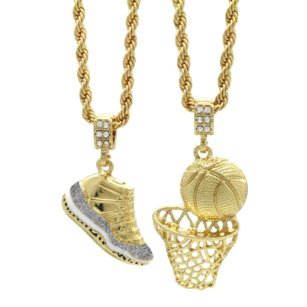 gold plated retro 11 cool grey basketball pendant 4mm. Black Bedroom Furniture Sets. Home Design Ideas