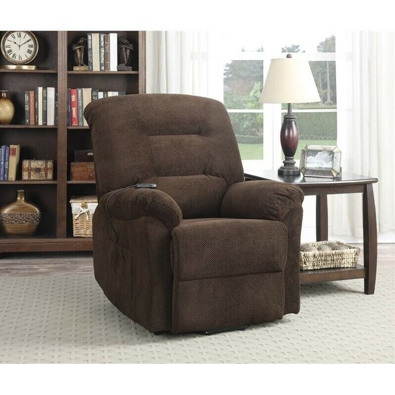 Coaster Power Lift Recliner In Chocolate 21032326531 Ebay