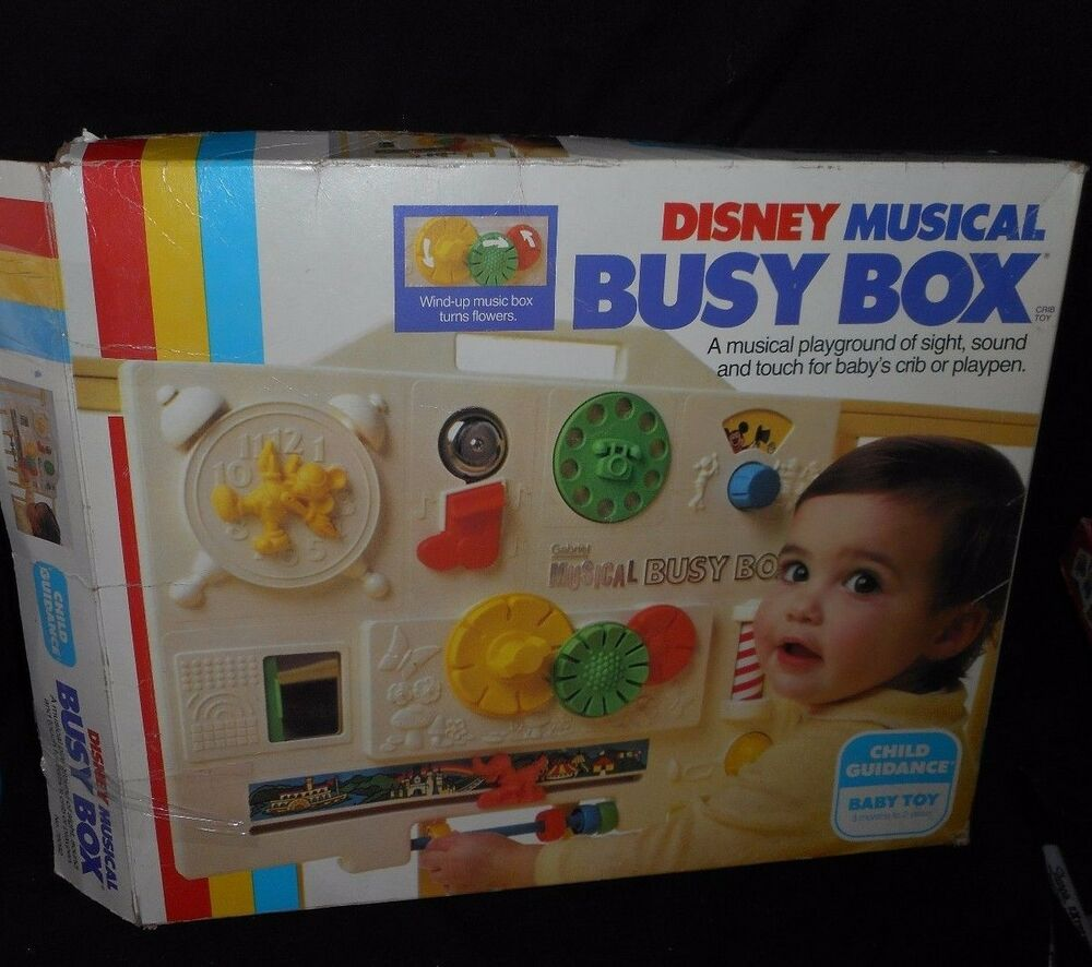 Vintage Disney Child Guidance Musical Busy Box Mickey Mouse Baby