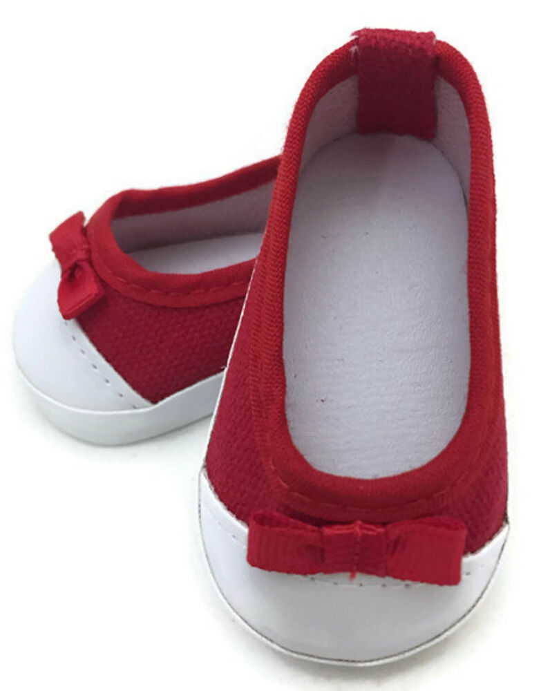 slip on canvas tennis shoes w bow made for 18