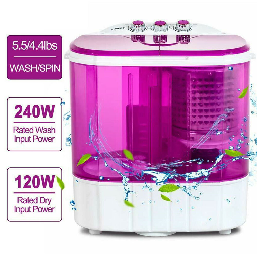 Portable Washer And Dryer Combo For Apartments: Mini 8-9lbs Portable Washing Machine Compact Washer Spin