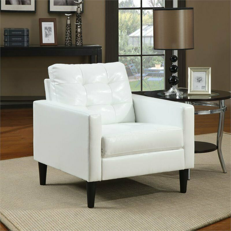 Ebay Accent Chairs: ACME Furniture Balin Accent Chair In White