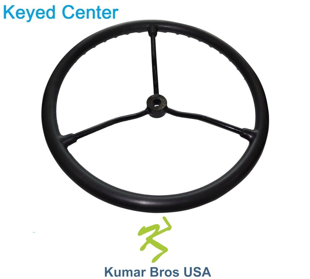 2n3600 New Oe Style Steering Wheel With Metal Spokes Fits Ford 8n Holland 2n Ebay