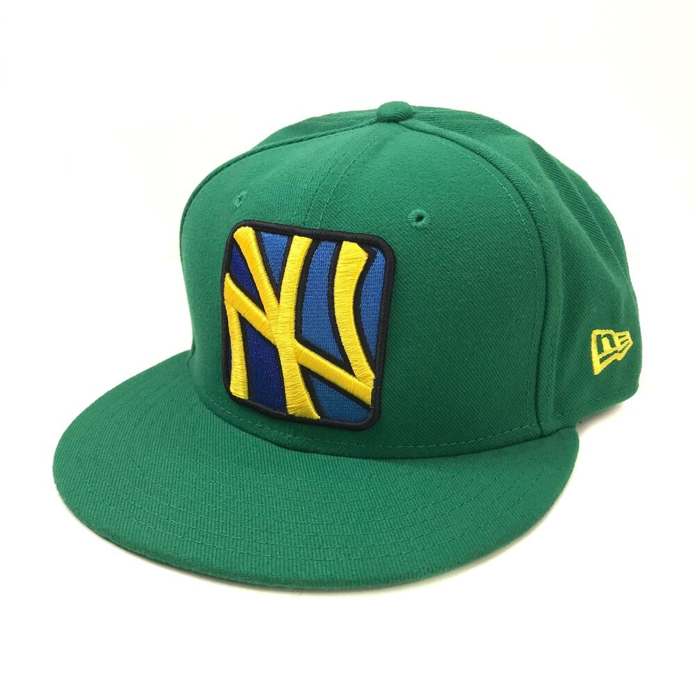 Details about MLB New York Yankees New Era 59FIFTY Fitted Hat Cap Seasonal  Basic Green Yellow 291fdcecacb5