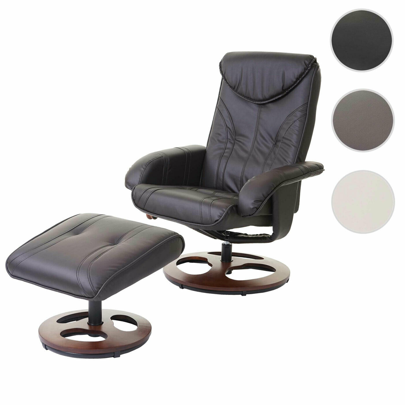 S-Racer Relaxsessel Gaming-Sessel schwarz//weiß B-Ware Fernsehsessel MCW-E84