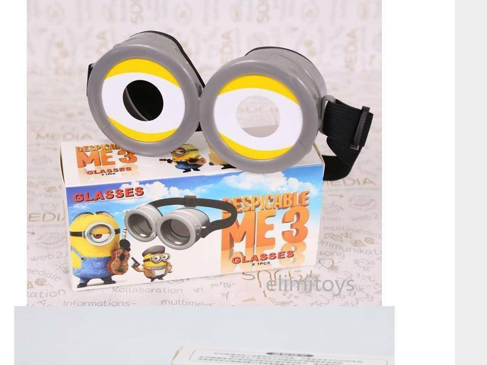 eb6920264d3 Despicable Me 3 Minions 3D Eye Glasses Goggle Party Costume Prop Kids or  Adult