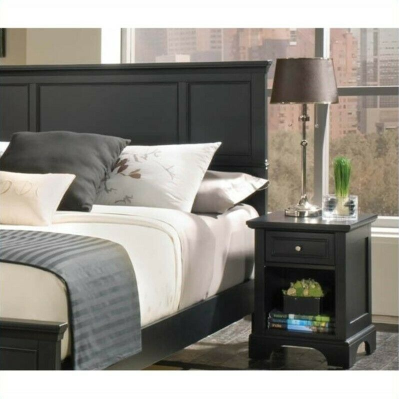 Details About Home Styles Bedford Queen Wood Panel Headboard 2 Piece Bedroom Set In Ebony