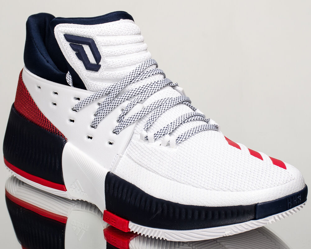 sneakers for cheap 222fa 0507c Details about adidas Dame Lillard 3 III men basketball shoes NEW white red  navy BY3762