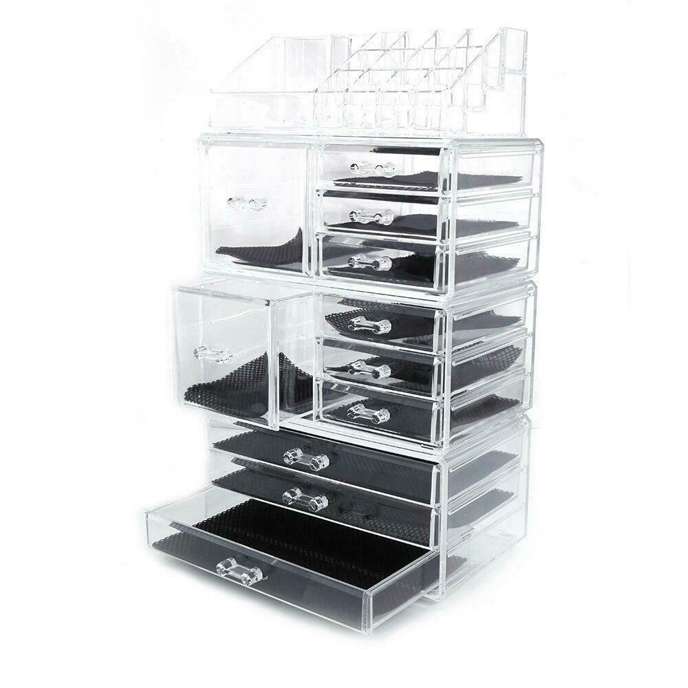 Acrylic Cosmetic Tower Organizer Makeup Holder Case Box