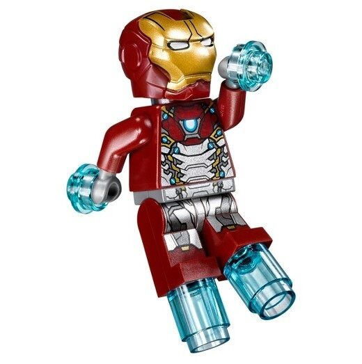 LEGO SUPER HEROES MINIFIGURE IRON MAN SILVER ARMOR 76083