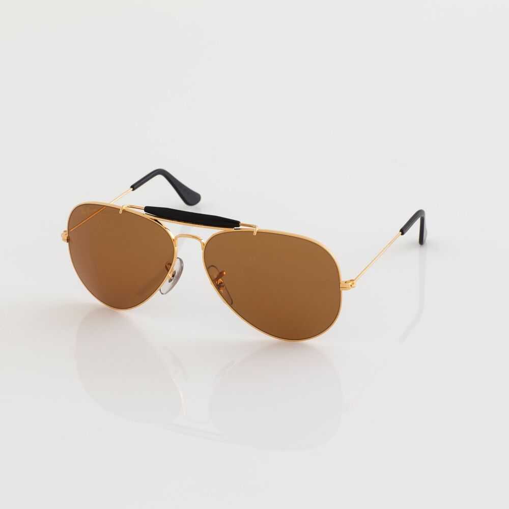 fa9686619a2 Details about NEW VINTAGE RAY BAN B L AVIATOR CHROMAX W1663 ARISTA GOLD  Driving SUNGLASSES