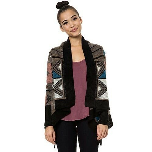 6beeb1e967e Details about NWT  86 Jack BB Dakota Clooney Tribal Patterned Cardigan in  Taupe Sz L Large