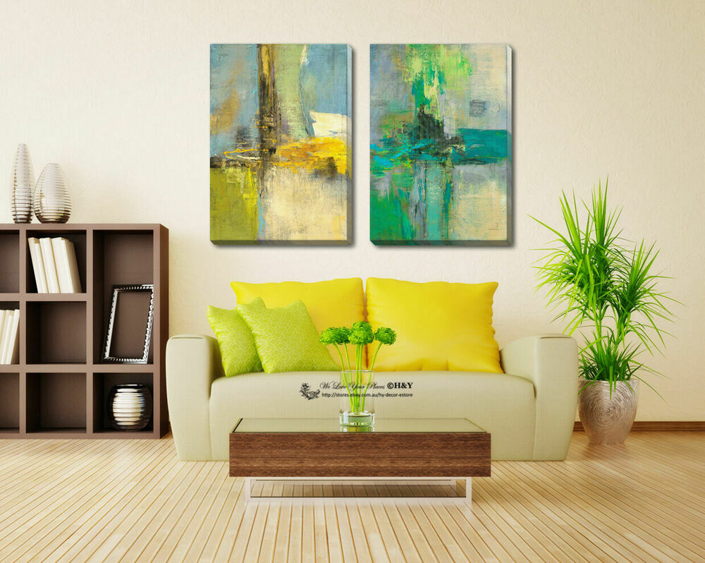 Abstract Stretched Canvas Print Framed Wall Art Home Decor ...
