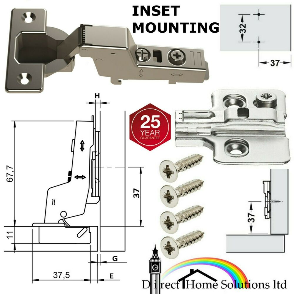 Hafele Soft Close Concealed 110 176 Inset Hinges 216 35 Mm Cup