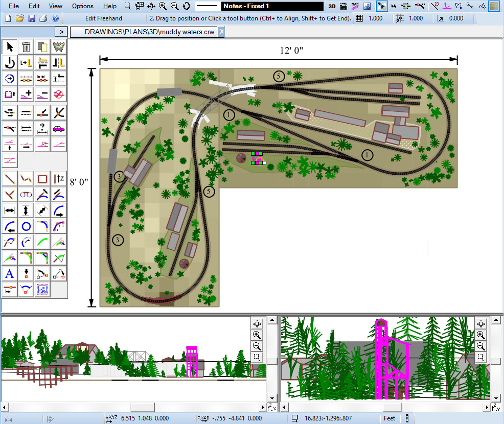 Railway cad software design build model track layout for Layout plan software