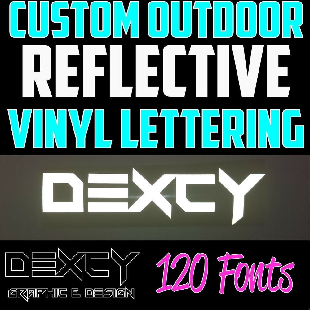 1 5 Quot White Custom Outdoor Reflective Vinyl Lettering Decal