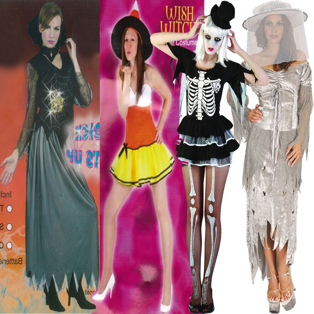 Womens Ladies Halloween Party Cosplay Costume Witch Zombie Bride ...