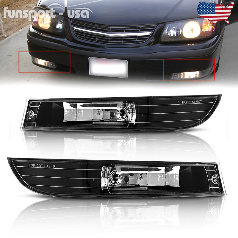 For 2000-2005 Chevy Impala Clear Lens Front Bumper Driving