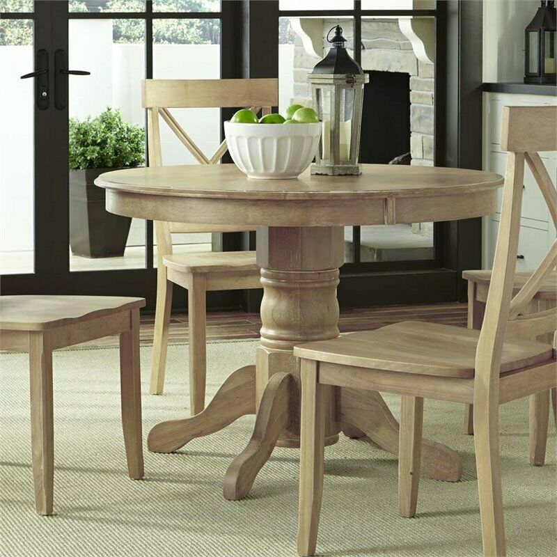 home styles classic 42 round pedestal dining table in white wash 95385067199 ebay. Black Bedroom Furniture Sets. Home Design Ideas