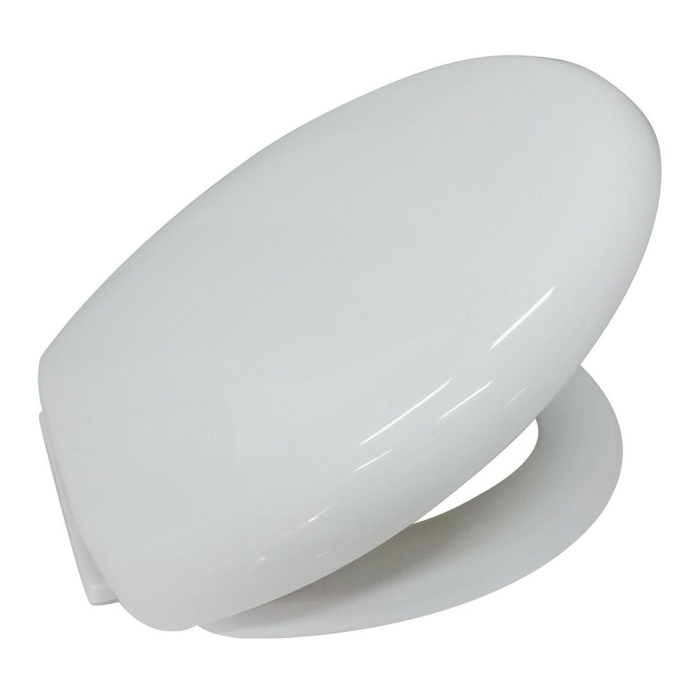 soft close white plastic toilet seat with wrap over seat. Black Bedroom Furniture Sets. Home Design Ideas