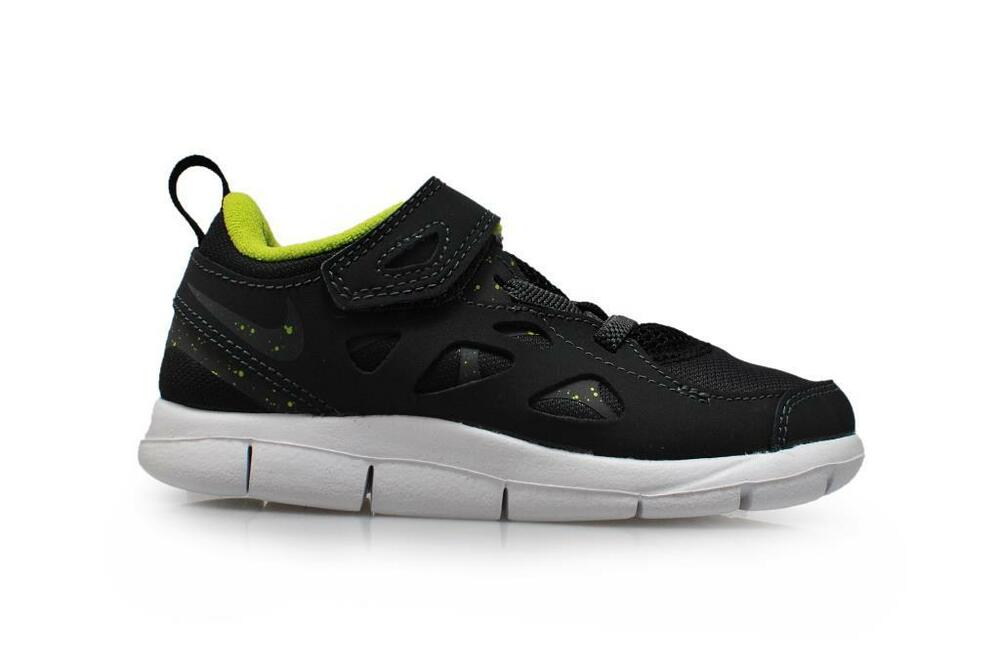 Details about Infants Nike Free Run 2 (TDV) - 443744 093 - Black Dark Grey  Force Green Anthrac f7d04fefa6