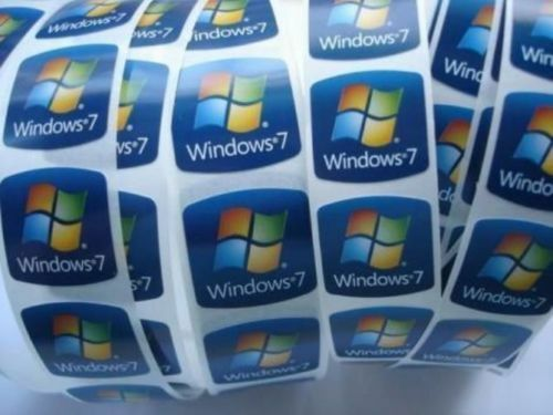 5x windows 7 stickers 21mm genuine oem decals logos microsoft desktop ebay. Black Bedroom Furniture Sets. Home Design Ideas