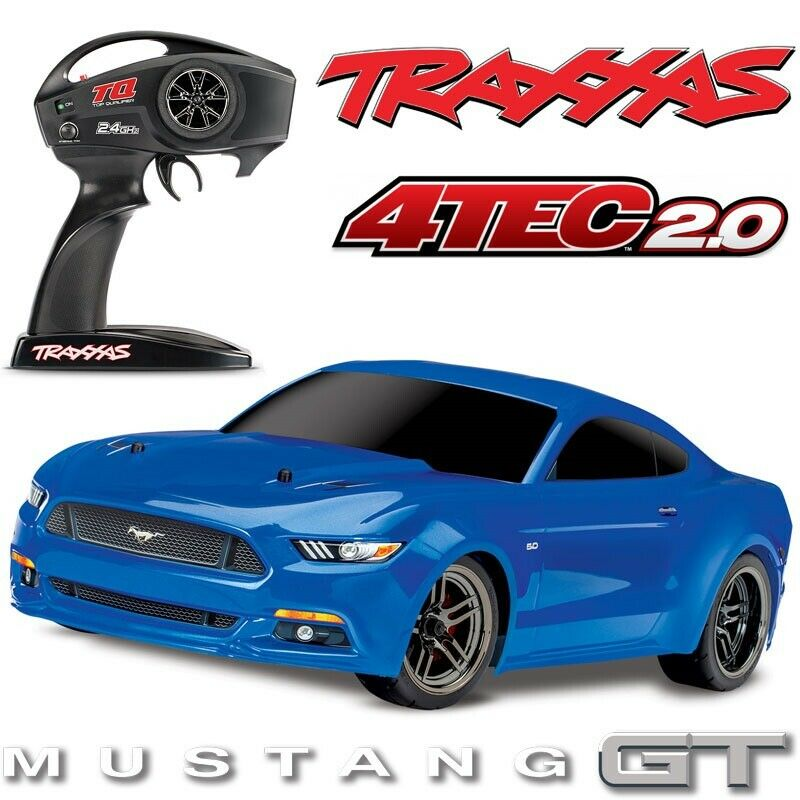 NEW Traxxas 1/10 Ford Mustang GT 83044-4 BLACK AWD