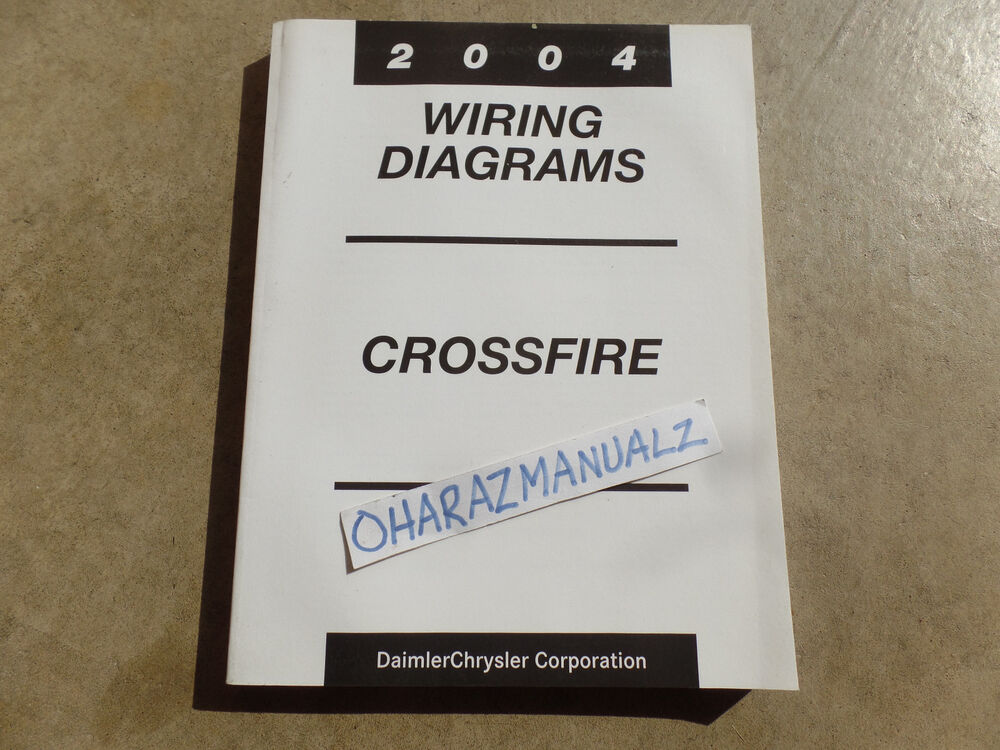 2004 chrysler crossfire wiring diagrams service manual oem. Black Bedroom Furniture Sets. Home Design Ideas
