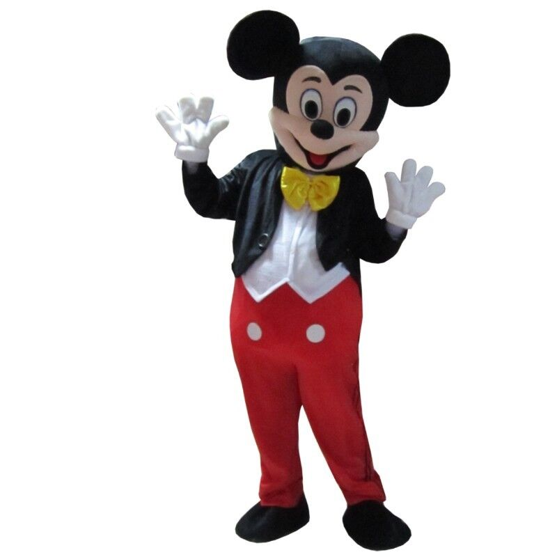 New Adult Size Mickey Mouse Mascot Costume Halloween ...