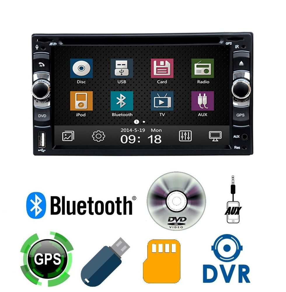 autoradio 2 din 7 gps navigatore dvd cd bluetooth stereo. Black Bedroom Furniture Sets. Home Design Ideas