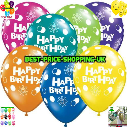 Details About 12 14 HAPPY BIRTHDAY BALLOONS HELIUM BALLOON QUALITY PARTY WEDDING BALLONS