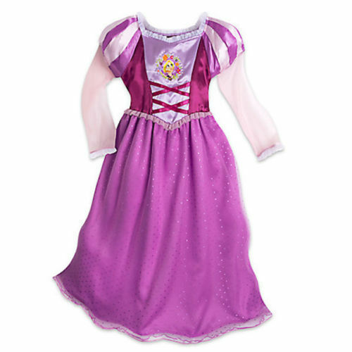 74c383fcc9 Details about NWT Disney Store Sz 4 5 6 7 8 9 10 Tangled Rapunzel Costume  Deluxe Nightgown NEW