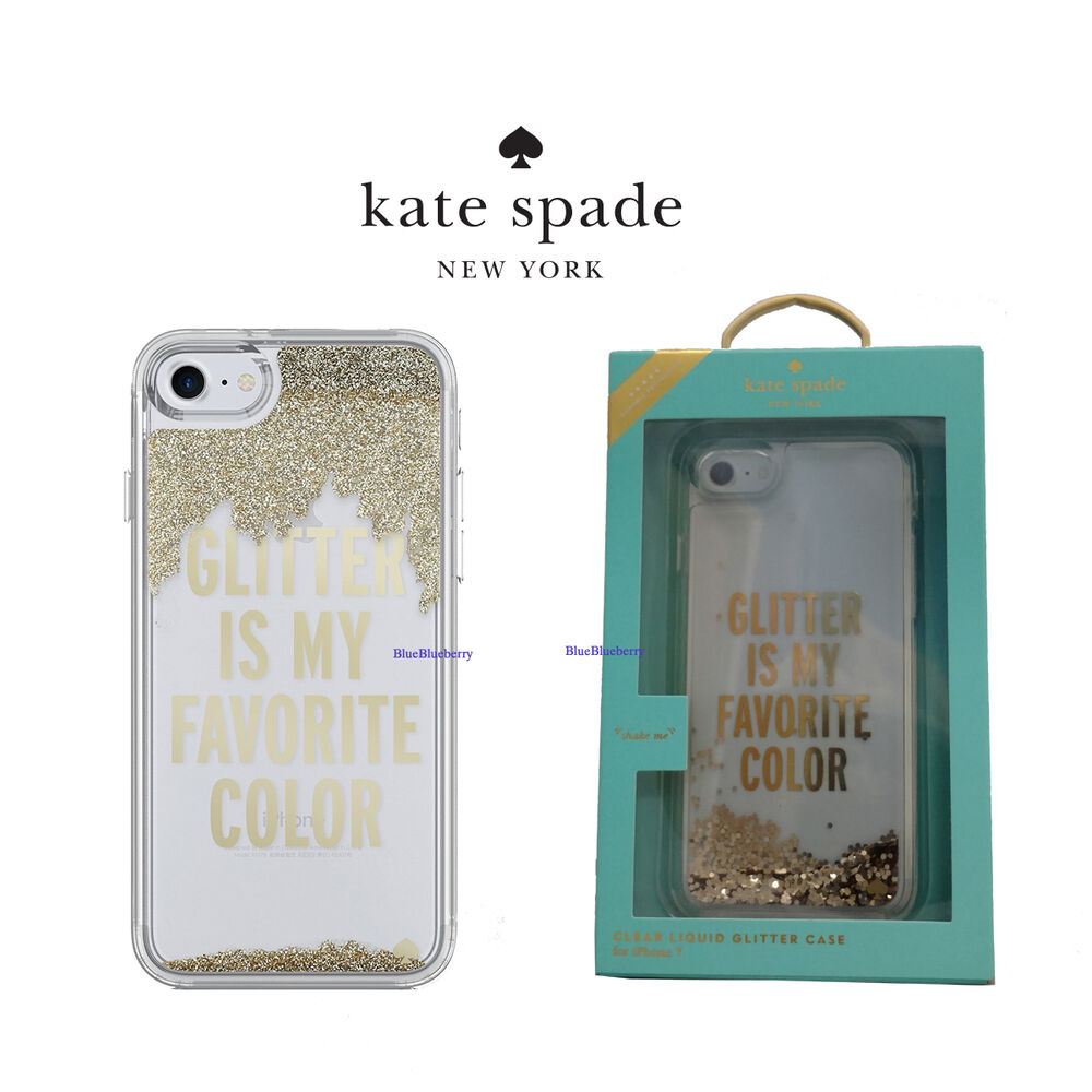 new styles 1f530 f1e76 Kate Spade Liquid Glam Case for iPhone 7 & iPhone 8 Glitter Is My Favorite  Color | eBay